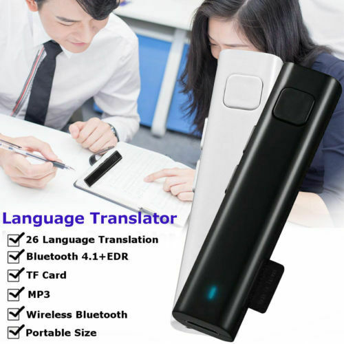 Portable Bluetooth Wireless Smart Translator Real Time Multi-Language Voice Translation For Travel Study