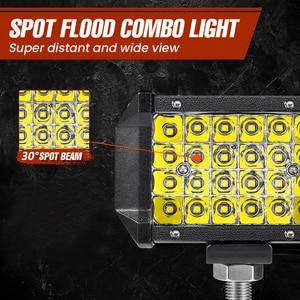 Image 5 - 2PCS LED Bar 4 inch 72W LED Light Bar 4 Rows Work Light bar for Driving Offroad Boat Car Tractor Truck 4x4 SUV 12V 24V