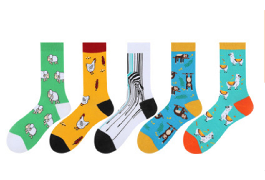Men And Women Personality Trend Stocks Camel Animal Chicken Monkey Pattern Cotton Socks
