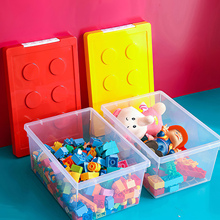 Container Storage Box Large Capacity Storage Stackable Storage Case Organizer Container Case Building Block Designed for Home
