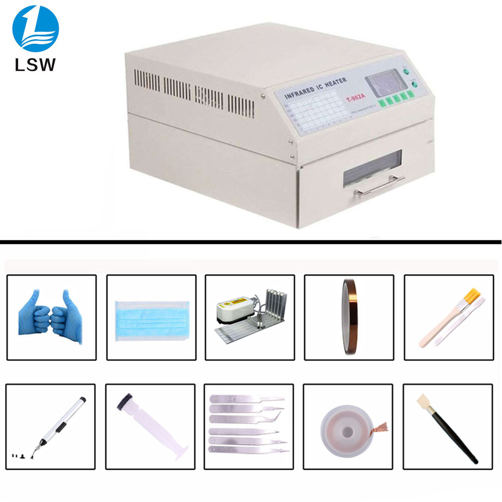 T-962A Infrared IC Heater T962A Desktop Reflow Oven BGA SMD SMT Rework Sation T 962A Reflow Wave Oven