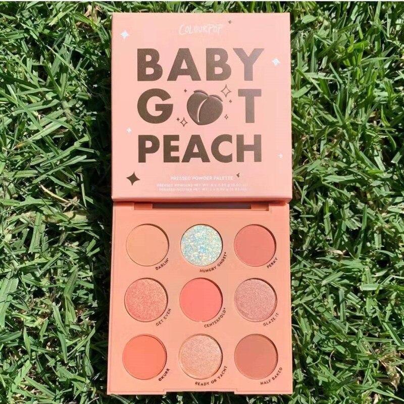 Colourpop 9 Colors Baby Got Peach Glitter And Matte Eyeshadow Palette