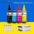 Многоразовый чернильный картридж Toney King  картридж с 4 чернилами для Canon MAXIFY MB2040 MB2140 MB2340 MB2740  принтер для PGI1400