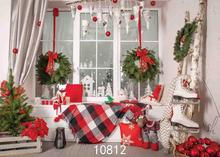 Vinyl Custom Photography Backdrops Prop Christmas day Christmas Tree Theme Photo Studio Background ST-1032 free shipping 5ft 7ft 150cm 215cm photography backdrops christmas snow tree bell villa door background