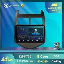 6+128G Android 10 Car GPS Multimedia Player For Chevrolet Aveo Sonic 2011 2015 Car Radio GPS Navigation 4G WIFI Carplay DSP Auto