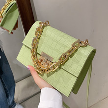 Stone Pattern PU Leather Crossbody Shoulder Bag for Women 2021 Trendy Luxury Solid Color Chain Handbags Female Travel Fashion