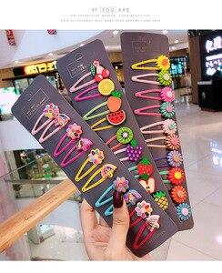 Clips de cheveux Kawaii pour femmes | 5 pièces/10 pièces/bandeau de cochon coréen, motif fleur, Animal bébé fille, Set d'accessoires pour cheveux