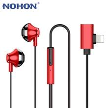 Słuchawki przewodowe magnes słuchawki douszne z oświetleniem adapter do ładowarki do iPhone 7 8 Plus X XS 11 Pro Max Huawei Samsung słuchawki douszne