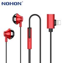 หูฟังแม่เหล็กหูฟังแสงอะแดปเตอร์ชาร์จสำหรับ iPhone 7 7 Plus Plus XS 11 PRO MAX Huawei Samsung in Ear หูฟัง