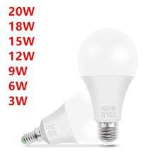 10PCS LED lamp E14 E27 AC 220V LED bulb Light LED Spotlight Table lamp 3W 6W 9W 12W 15W 18W 20W