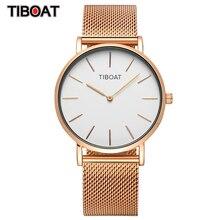 Montre bracelet de luxe pour femmes, bracelet à Quartz, de marque japonaise, avec cadran en acier inoxydable et or Rose, étanche