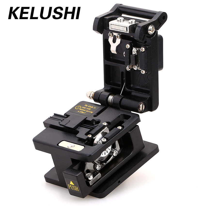 KELUSHI High Precision Fiber Cable Cutting Tool SKL-60S Optic Fiber Cleaver Cutter 12 Position Blade Cutting Knife Metal Materia