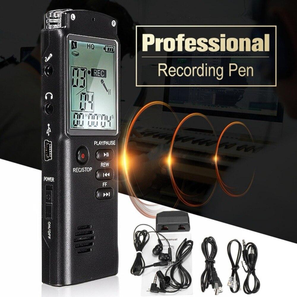 Диктофон USB Профессиональный 96 часов диктофон цифровой Аудио Диктофон с VAR/VOR Встроенный микрофон 8 ГБ 16 ГБ 32 ГБ