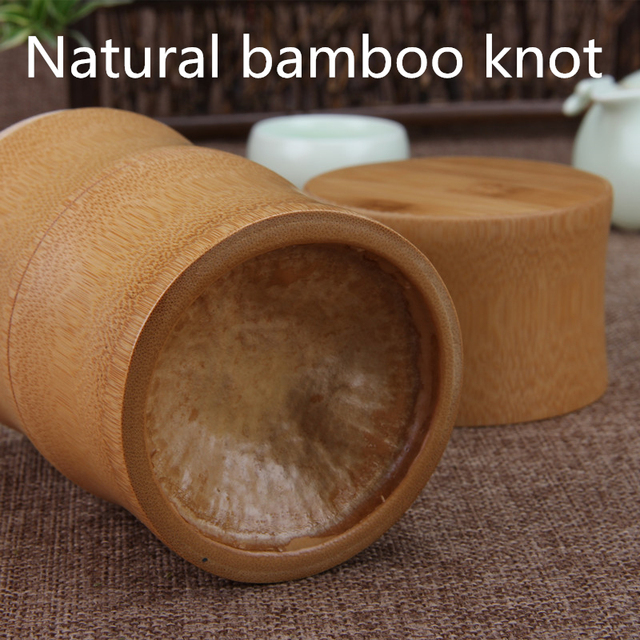 Bamboo Storage Bottles Kitchen Tea Container Jar Cans Case Organizer Spice Round Caps Seal Box Canister For Bulk Products 5