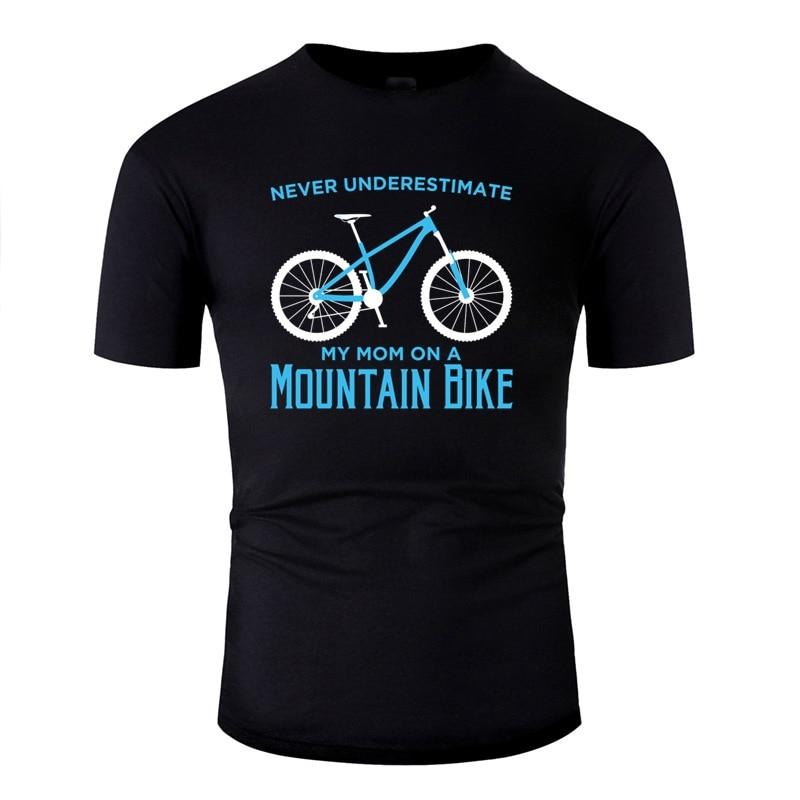 Fitted Mountain Racing Bike Proud Cycling T Shirt Men's T-Shirt Girl Boys O-Neck Men Tee Shirt Male Short Sleeve Top Tee