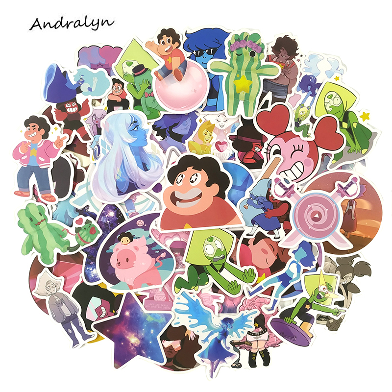 50pcs/set Steven Universe Cartoon Stickers For Mobile Phone Laptop Luggage Skateboard Decal Stickers For Kid