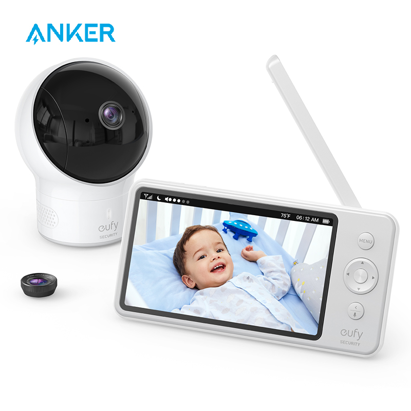 Video Baby Monitor, Eufy Security Video Baby Monitor With Camera And Audio, 720p HD Resolution,110° Wide-Angle Lens Included