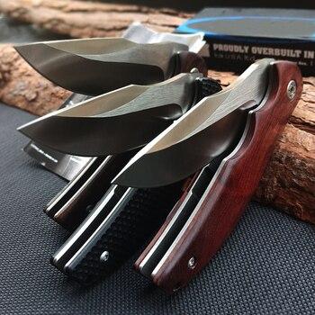 Hot 0606 Tactical Folding knife Log handle Outdoor Camping Survival Hunting Knife portable Pocket Compact Knives EDC Hand tools 4