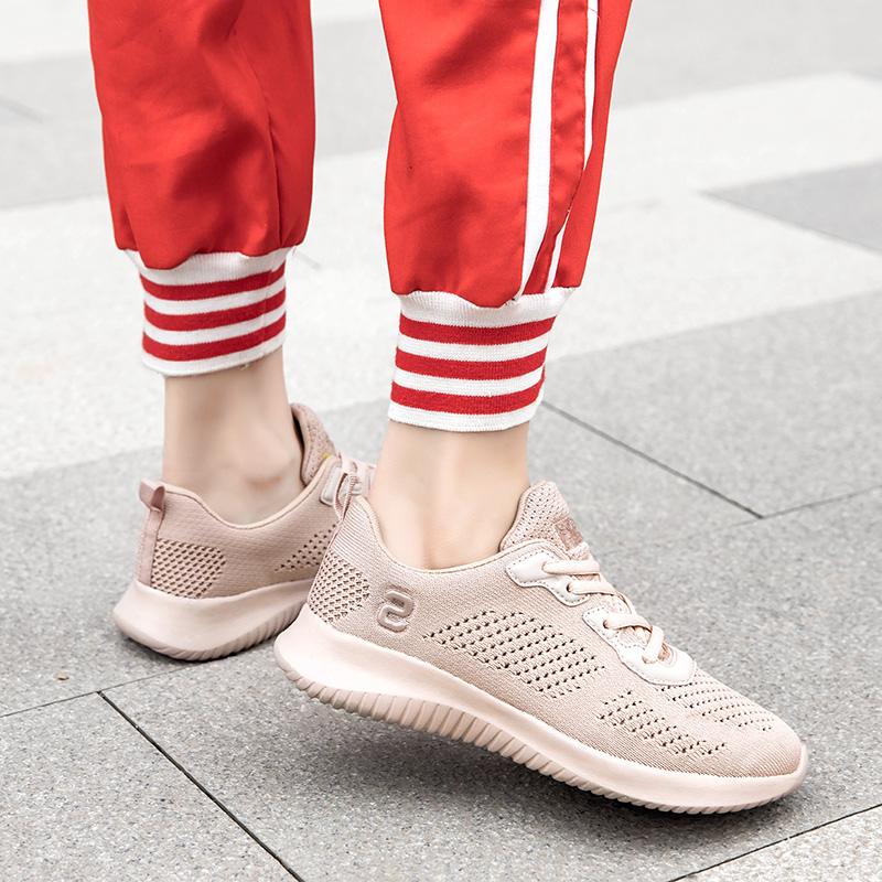 Womens Ultralight Flying Weaving Loafers Trainers Flat Slip On Comfy Sneakers UK