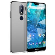 For Nokia 7.1 Case Transparent Silicone Shockproof Soft TPU Cover For Nokia 7.1 Plus 8.1 6.1 Plus X7 X6 2018 9 Case Clear Slim чехол nokia 2 slim crystal case transparent cc 104