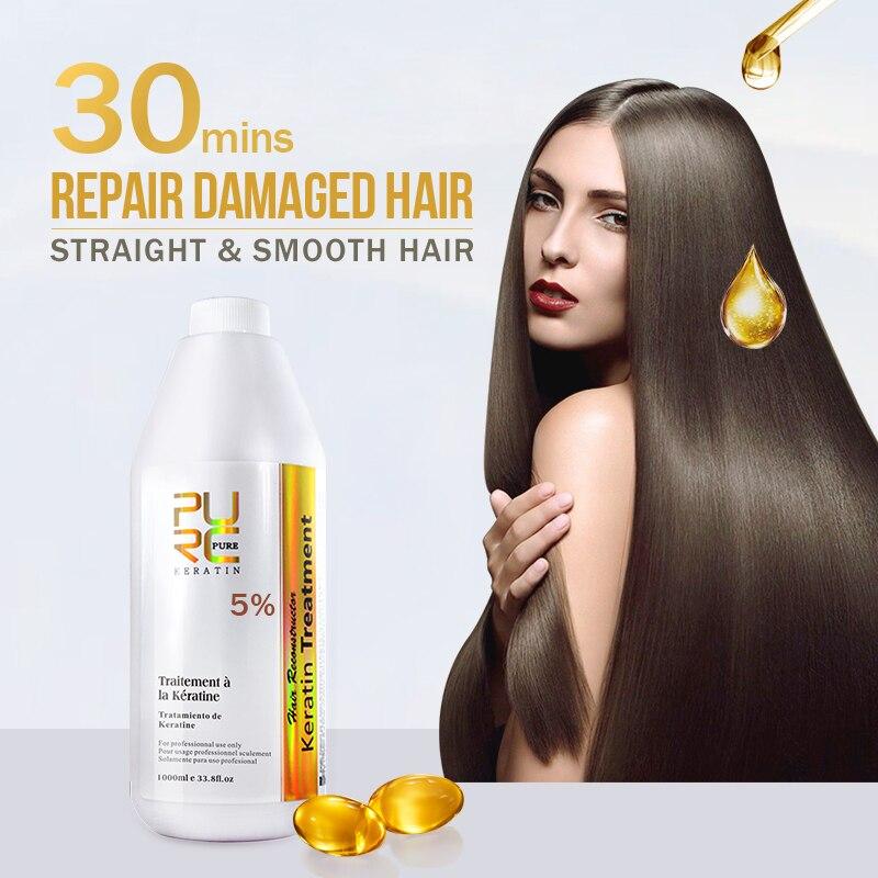 8 produtos de estilo brasileiro queratina tratamento para cabelo forte e 300 ml shampoo purificante atacado