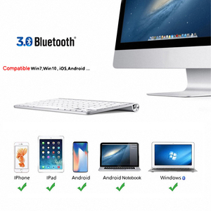 Image 3 - High Quality Ultra Slim Bluetooth Keyboard Mute Tablets and Smartphones For Apple Wireless Keyboard Style IOS Android Windows