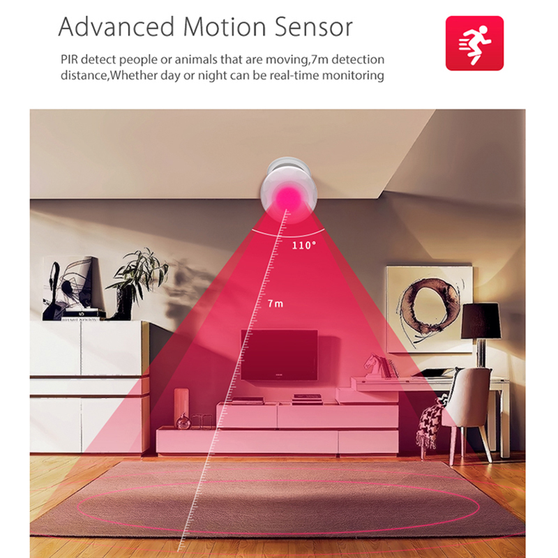 Image 3 - KSLAIC Wifi PIR Sensor Motion Detector Wireless Infrared Alarm System magnet bracket Home Security Burglar Alarm Movement Sensor