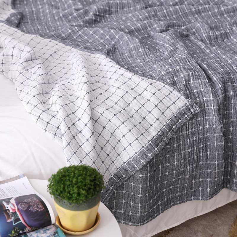 Baumwolle Weiche Günstige Bett Decke Sofa Couch Plaid Büro Rest Bettdecke Bettdecke Sessel Liege Tröster