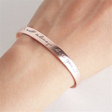 HIYONG Personalized Gold Silver Bracelets Bangles for Women Custom Name Engraved Cuff Bracelet Bangle Hand Armband Jewelry Gifts sitaicery 3pcs set cuff bracelet bangle for women rose gold silver engraved love bracelets wife women personalized gifts jewelry