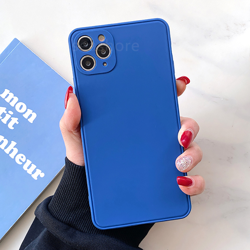 Luxury Ultra Thin Square Frame Case For iPhone 11 12 Pro Max 12 Mini SE 2020 X Xr Xs Max 7 8 6 6s Plus Soft Silicone Matte Cover