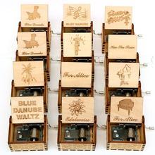 Прямая поставка, деревянная резная музыкальная шкатулка, ручная работа, музыкальная шкатулка Поттер, Музыкальная шкатулка, подарок на день рождения, Рождественская Подарочная коробка, подарок