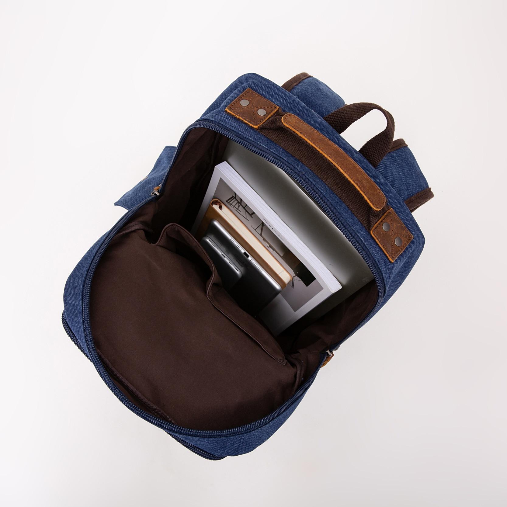 Shoulders Canvas Laptop Anti Theft Backpack Men Women Mochila Mujer Bagpack School Bags For Teenage Girls Backpacks