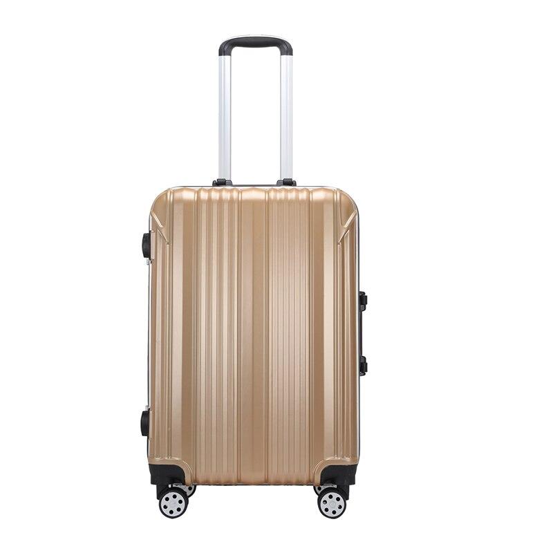 Чемодан s, Модный Дорожный чемодан на колесиках, 20/24 дюймов, для женщин и мужчин, деловой чемодан, чемодан на колесиках, для взрослых, однотонн...