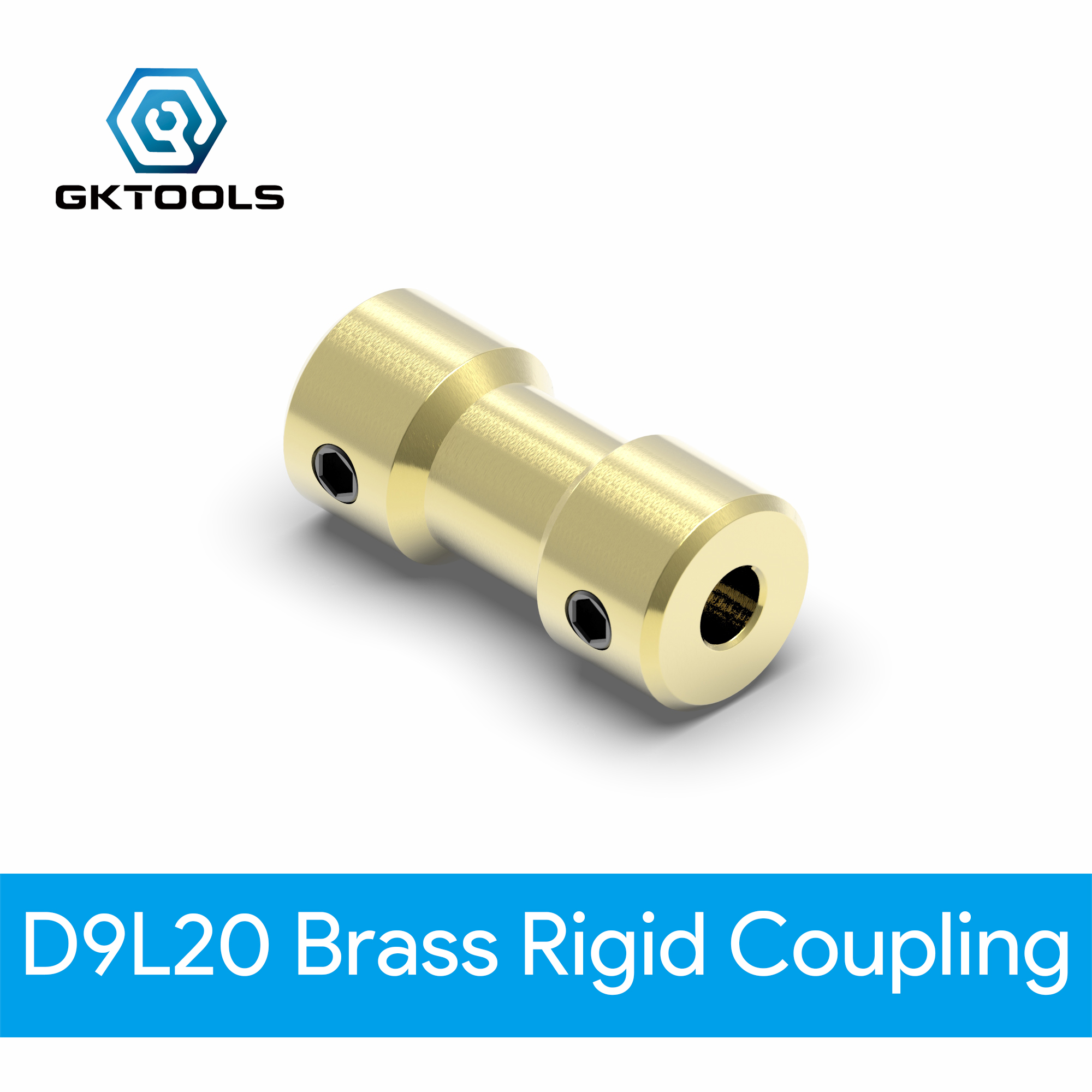 GKTOOLS D9L20 2mm/2.3mm/3mm/3.17mm/4mm/5mm/6mm Brass Flexible Motor Shaft Coupling Coupler Motor Transmission Connector image