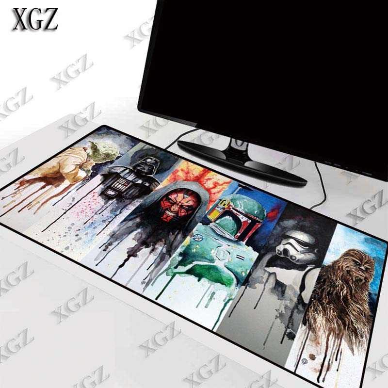 XGZ Star Wars Large Gaming Mouse Pad Lock Edge Mat for Laptop Computer Keyboard Desk Dota 2CSGO LOL pad