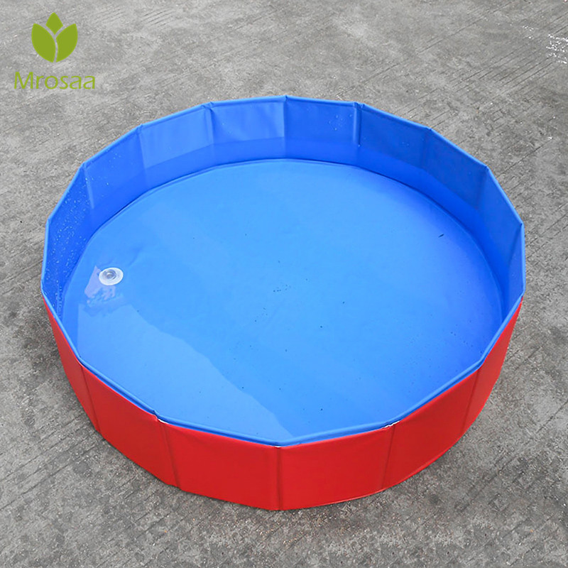 Inflatable Swimming Pet Tub Foldable Dog Pool Bath Collapsible Bathing Pool for Dogs Cats PVC Composite Cloth Pet Products