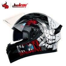 Motocross Helmet Casco Lining JIEKAI Capacete Double-Visor Full-Face Washable