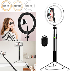 Image 4 - Photography 5.7/8/10.2 Inch LED Selfie Ring Light Dimmable LED Ring Lamp Video Camera Phone Ringlight For Live YouTube Tik tok