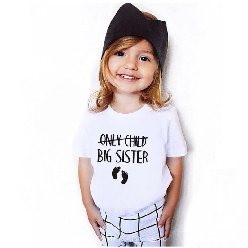 Только Детская футболка с надписью «Big Brother/Sister To Be» для беременных детская забавная футболка с короткими рукавами детские повседневные фут...