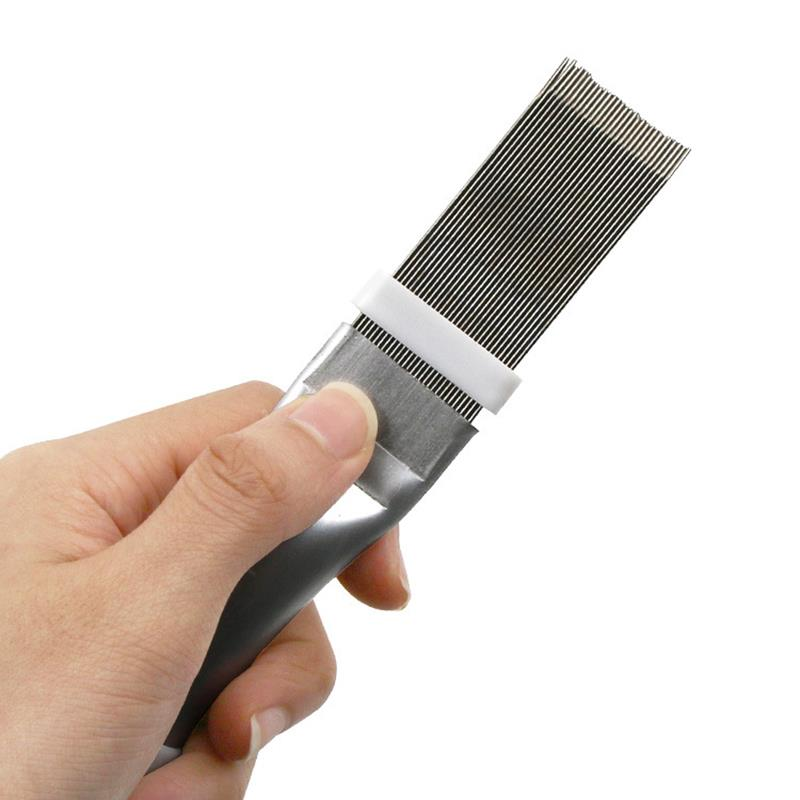 Air Conditioning Fin Comb Condenser Cleaning Comb Fin Comb Brush For Air Conditioner Blade Cooling Straightening Cleaning Tool-in Brush from Tools