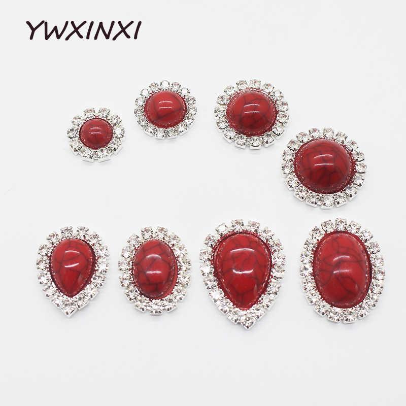 Prix choquant! 10 pièces taille mixte rouge cristal diamant accessoires haut de gamme bijoux faits à la main fête festival design décoration
