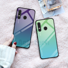 Gradient Tempered Glass Case For Huawei P30 Pro P20 Lite Mate 20 10 20 Pro Nova 3 3i 4 Case For Honor 8X 10 9 Lite Phone Cases rose leather flip case honor 8x y9 2019 mate 20 pro 20 lite 9 lite nova 3i p20 pro smart for huawei nova 3e p20 lite phone case