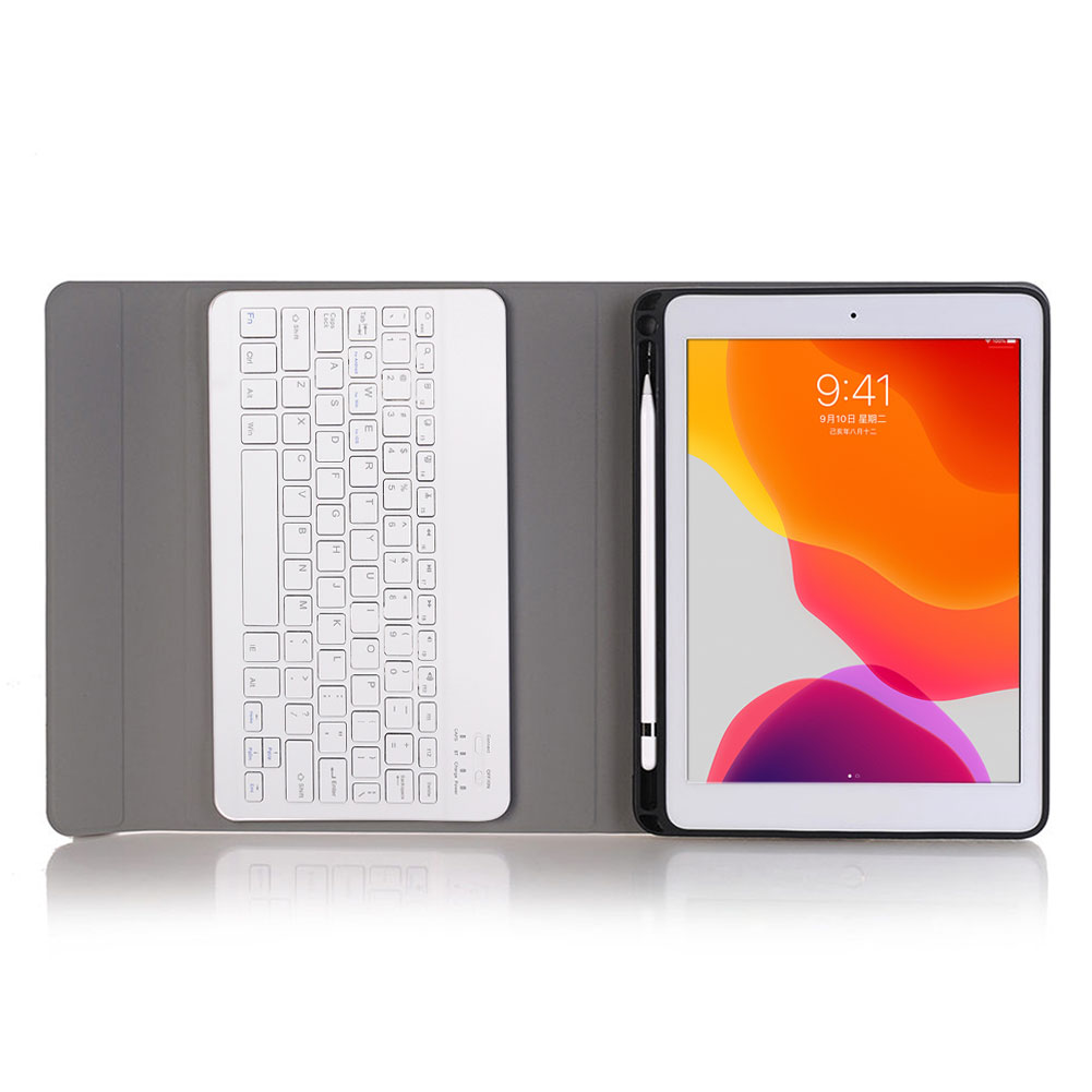 Keyboard-Stand For iPad Detachable Generation Bluetooth with Funda-Case Pen-Slot Cover