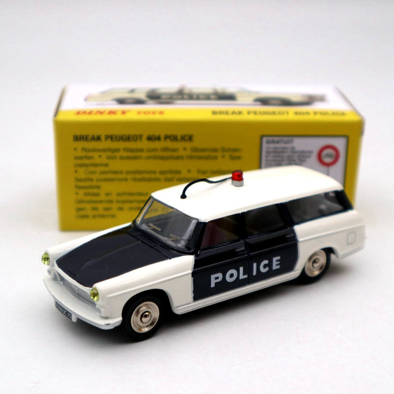 Atlas 1:43 Dinky Toys 1429 BREAK PEUGEOT 404 POLICE Miniatures Diecast Models Collection