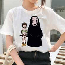 Футболка Миядзаки Хаяо забавный Топ 90 х женская футболка Тоторо