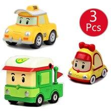 3 قطعة 12 أنماط Robocar كوريا الطفل الاطفال لعب Robocar بولي الأنبا روي سيارة معدنية نموذج عمل أرقام سيارات لعب ل الأطفال