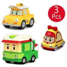 3 pcs 12 Estilos Coréia Criança crianças Brinquedos Robocar poli Robocar poli Roy Anba Figuras de Ação Modelo de Carro de Metal Do Carro brinquedos Para As Crianças