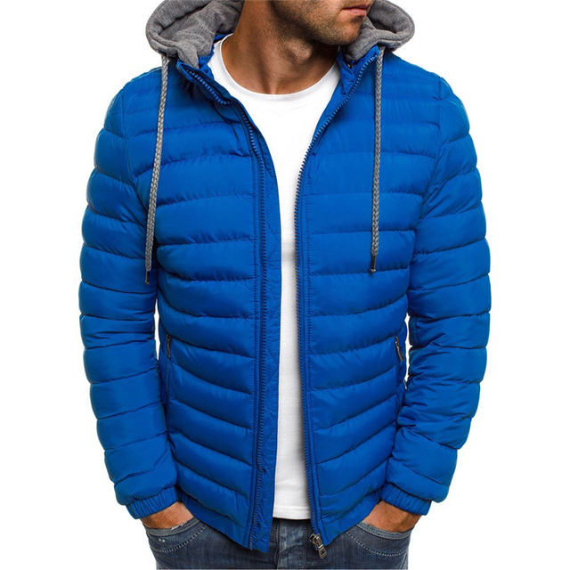 NaranjaSabor Fleece Parka Coat Mens 2020 Winter Thick Hooded Cotton Outwear Men Fashion Jacket Male Casual Brand Clothing N604 5