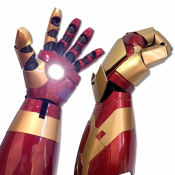 marvel wearable iron man mk5 voice activated deformation helmet iron man 1:1 armor wearable arm helmet mk42 gloves high quality  touch electric open