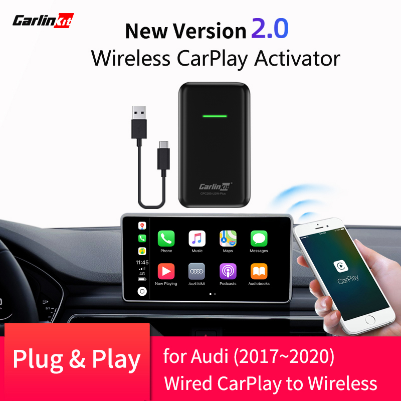 2020 CarPlay Wireless Adapter for Audi A3 A4 A5 A6 A7 Q7 Q2 R8 Q5 MMI 2017-2019 convert factory CarPlay to Wireless CarPlay
